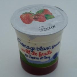 Fromage Blanc sur lit de fraise (125 g)