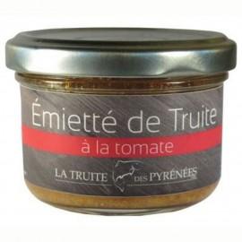 Emietté de truite à la tomate (pot de 90g)