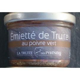 Emietté de truite au poivre vert (pot de 90g)
