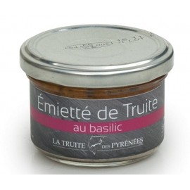 Emietté de truite au basilic (pot de 90g)
