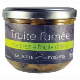 Truite fumée marinée à l'huile d'olive (pot de 380g)