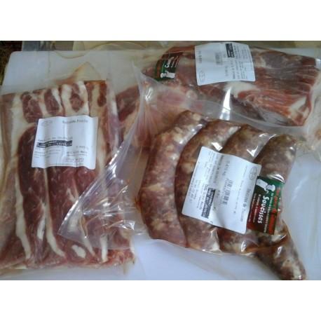 Pack Grillade Porc (saucisses, ventrèches, coustou)